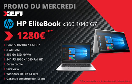 ordinateur portable hp elitebook x360 1040 g7 en promotion chez xefi tours